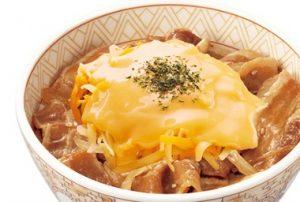 すき家「とろ〜り3種のチーズ豚丼」