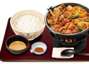 すき家「あさり牛火鍋定食」2020年11月