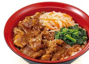 すき家「ナムル牛カルビ丼」2021年3月
