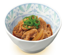 すき家朝定食サイドメニュー「牛小鉢」