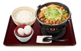 すき家「贅沢薬味の葱生姜牛すき鍋定食」2021年2月