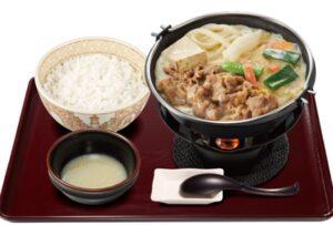 すき家「豆乳牛鍋定食2020年12月