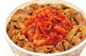 すき家「キムチ牛丼」