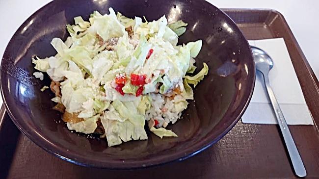 すき家「シーザーレタス牛丼」2019年5月15日実物