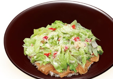 すき家「シーザーサラダ豚丼」2019年5月15日