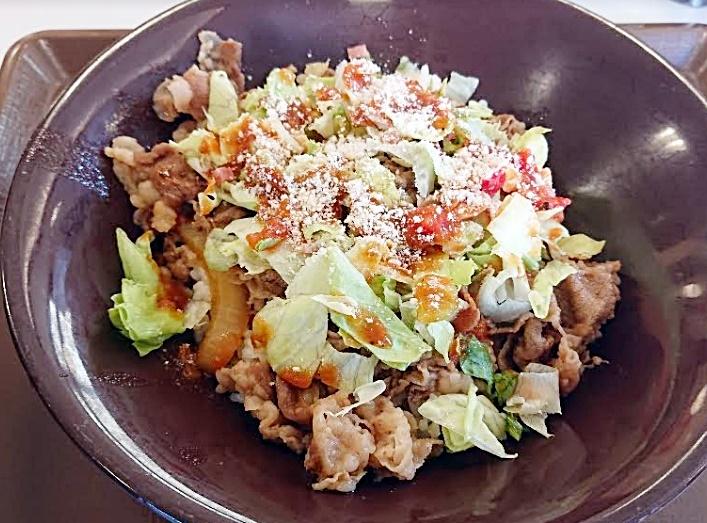 すき家「辛口トマレタ牛丼」2019年5月29日実物