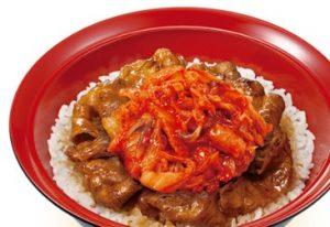 すき家「キムチ牛カルビ丼」